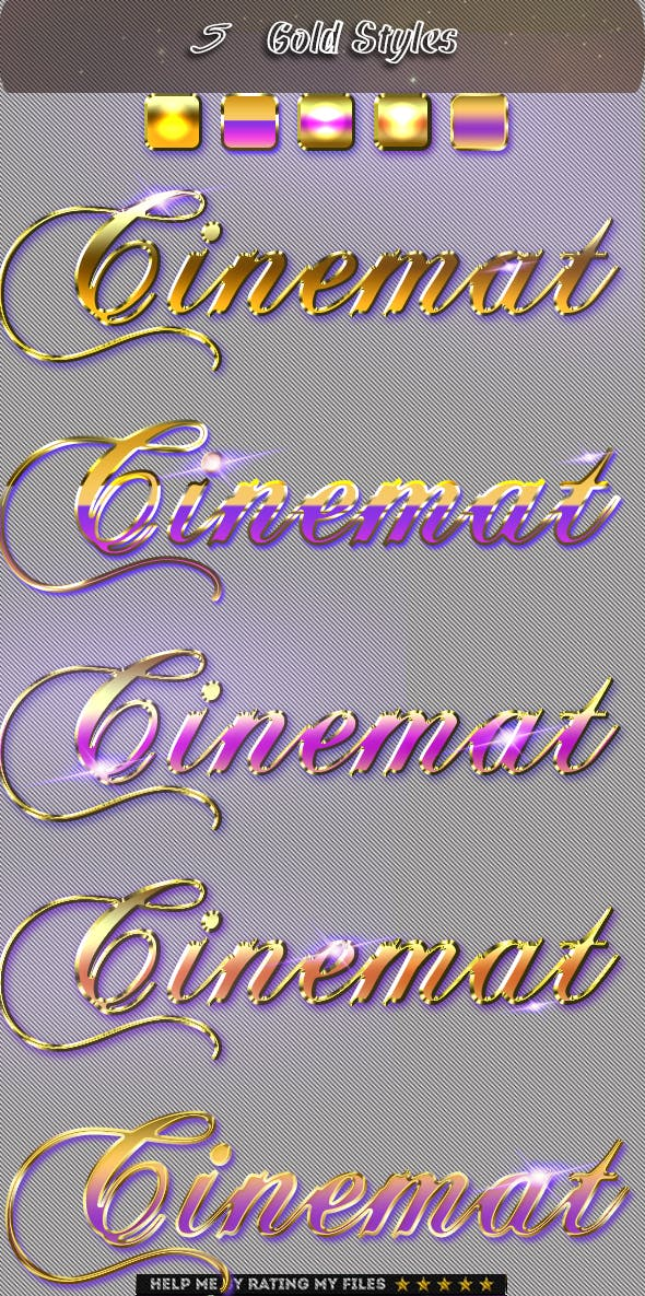 Realistic Gold Cinematic Text Effect 4