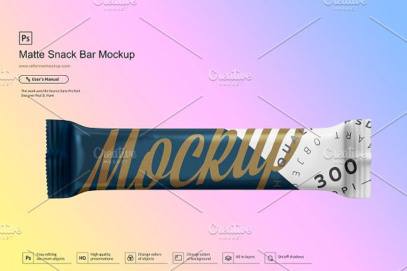 Six Snack Bar Mockup Bundle 40% OFF!