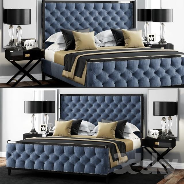 Bed LuXeo USA Kensington Queen Tufted