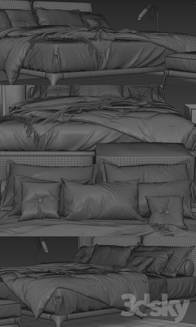 Poliform Park Uno Bed