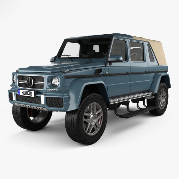 3D Mercedes-Benz G-class (W463) Maybach Landaulet With HQ Interior 2017 Model