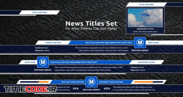 News Titles Set (Lower Thirds)