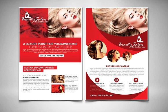 10 Beauty Salon Flyer Bundle