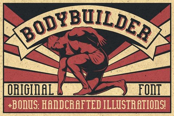 Bodybuilder Layered Font + Bonus