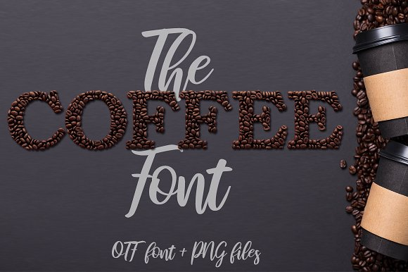 Coffee - OTF Colour Font + Extras