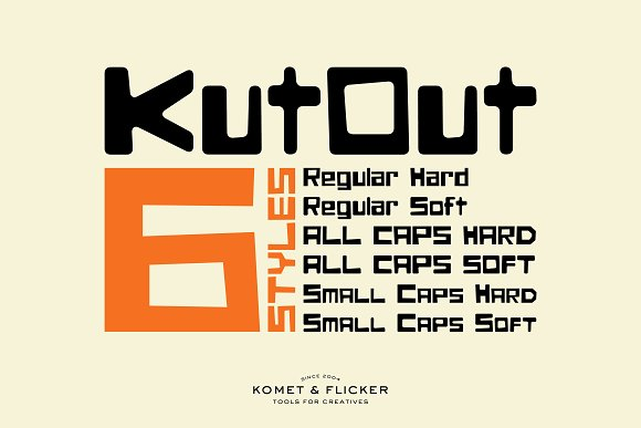 KutOut - A Fun Display Font