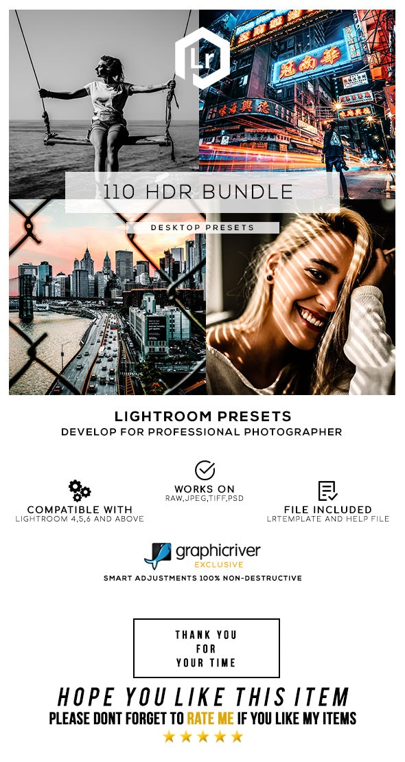 110 HDR Bundle Lightroom Presets