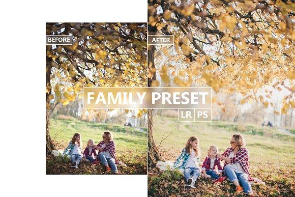 FAMILY Lightroom, Photoshop Preset
