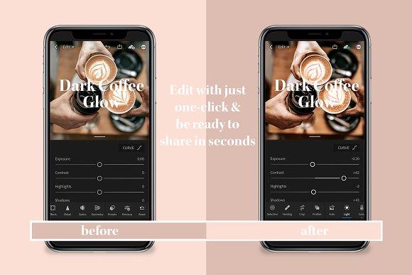 Dark Coffee Mobile Desktop Presets
