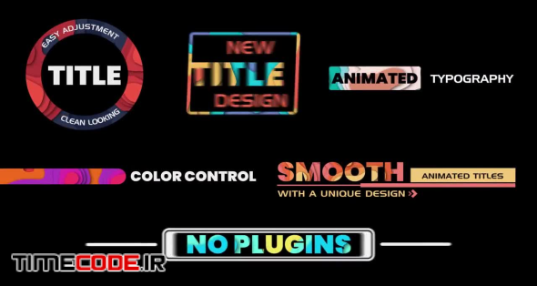 Colorful Title Animation