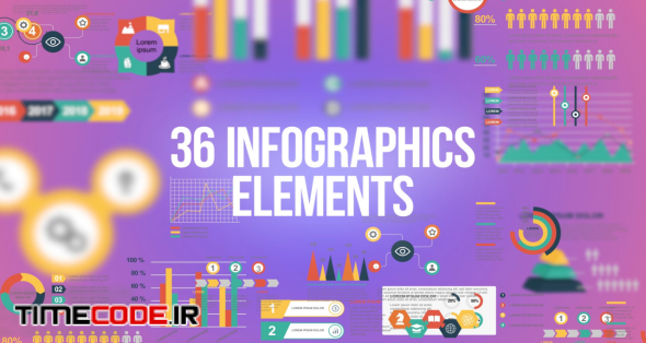 36 Infographics Elements Pack