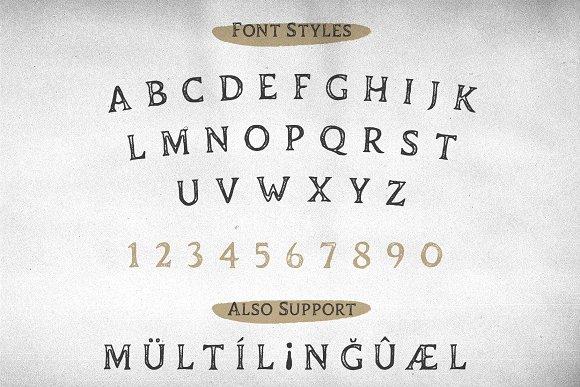 Duskey - Vintage Serif Font + Extras