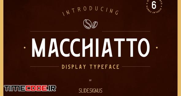 Macchiato Display Font