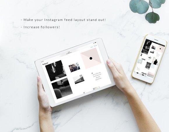 Instagram PUZZLE Template - Minimal