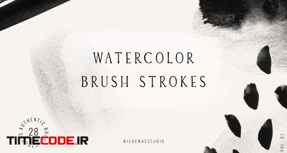 Watercolor Brush Strokes Vol. I