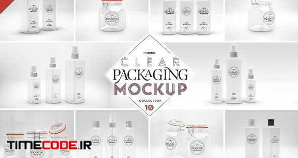 10 Clear Container Packaging Mockups