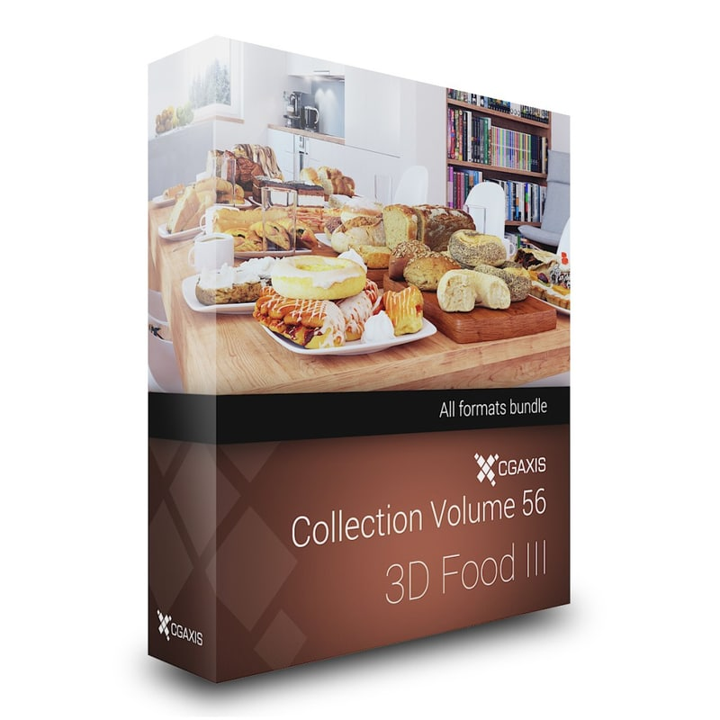 3D Food III - CGAxis Collection Volume 56