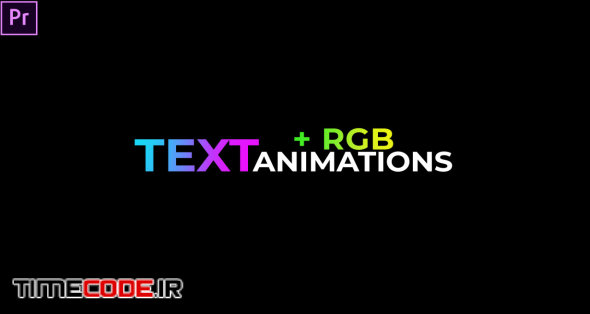 Text Animations + (RGB)