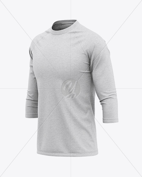 Men's Heather Raglan 3/4 Length Sleeve T