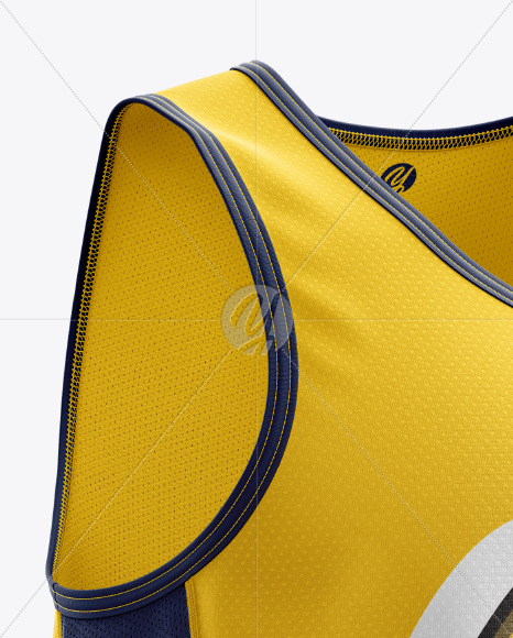 Men's Running Kit mockup (Right Half Side View) in Apparel Mockups on Yellow Images Object Mockups