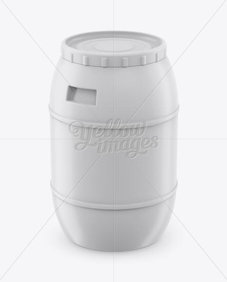 100L Plastic Barrel Mockup