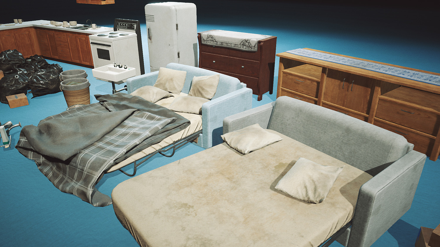 Abandoned Post Apoc Apartment Game Props [UE4+Raw]