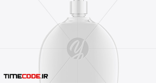 Liquid Soap Bottle with Pump Mockup in Bottle Mockups on Yellow Images Object Mockups