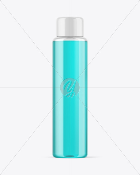 Clear Cosmetic Bottle Mockup in Bottle Mockups on Yellow Images Object Mockups