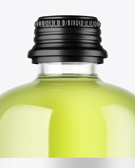 Clear Glass Bottle Mockup in Bottle Mockups on Yellow Images Object Mockups