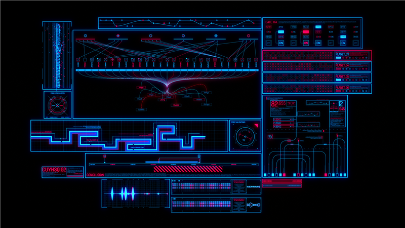 Sci-fi Interface HUD Package 2