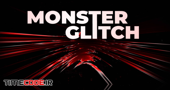 Monster Glitch Logo Reveal