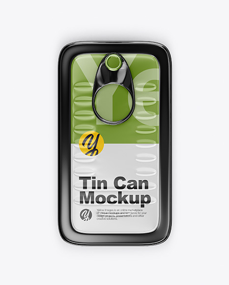 Metallic Tin Can Mockup in Can Mockups on Yellow Images Object Mockups
