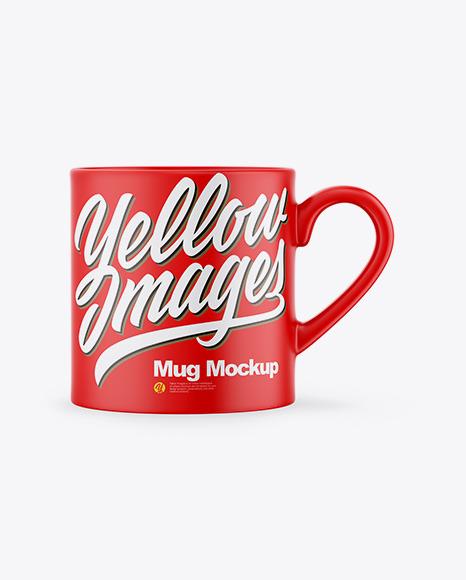 Matte Mug Mockup in Object Mockups on Yellow Images Object Mockups