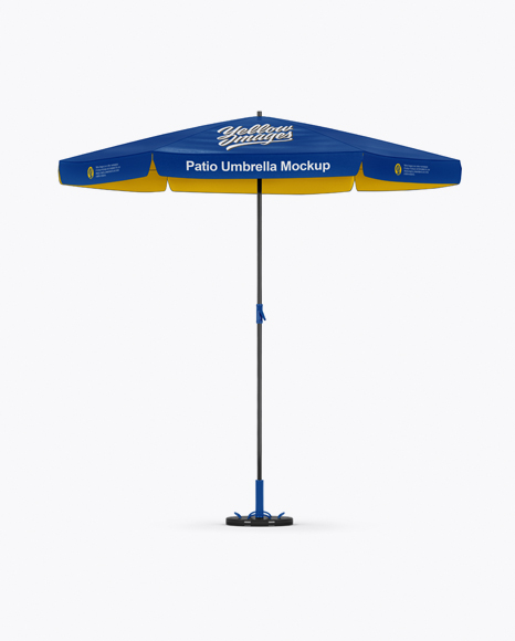 Glossy Patio Umbrella Mockup