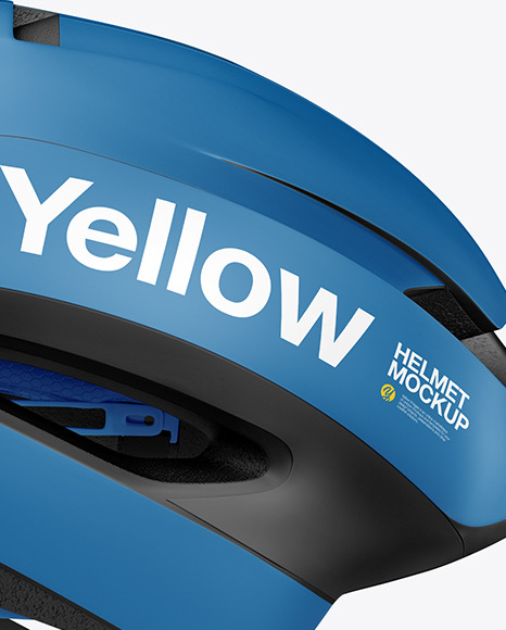 Cycling Helmet Mockup in Object Mockups on Yellow Images Object Mockups