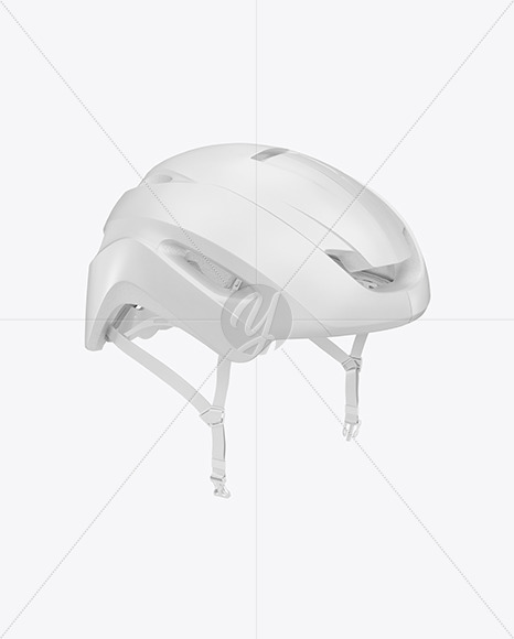 Cycling Helmet Mockup in Apparel Mockups on Yellow Images Object Mockups