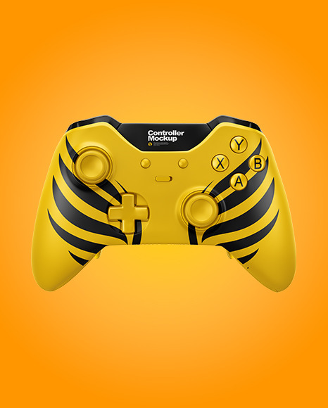 Game Controller Mockup in Device Mockups on Yellow Images Object Mockups
