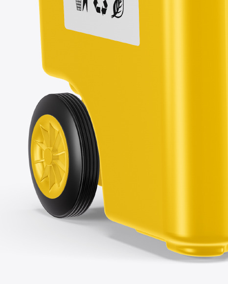 Plastic Rubbish Bin Mockup in Object Mockups on Yellow Images Object Mockups