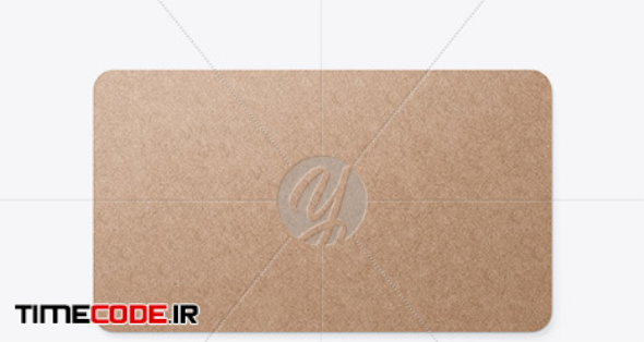 Kraft Business Card in Stationery Mockups on Yellow Images Object Mockups