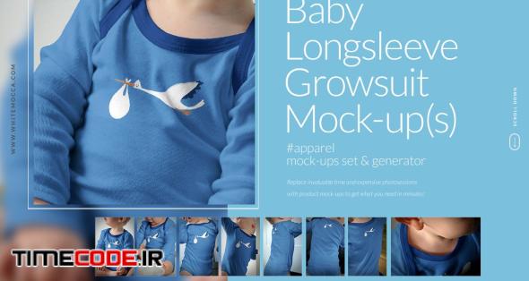 Baby Longsleeve Growsuit Mock-ups