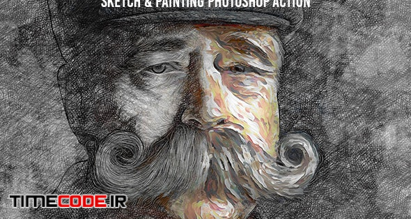 Mix Art - Sketch & Painting Photoshop Action