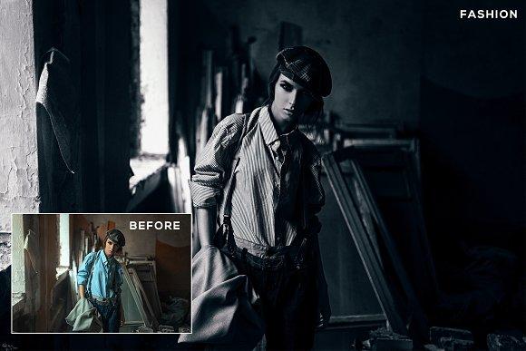 Darken Photoshop Actions