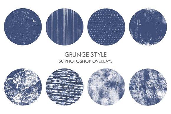 Grunge Style Photoshop Overlays