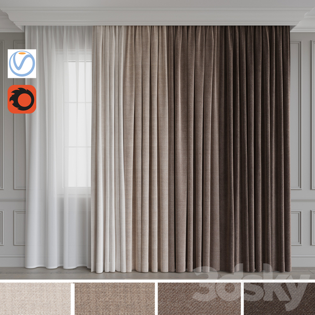 A Set Of Curtains 12. Beige Gamma