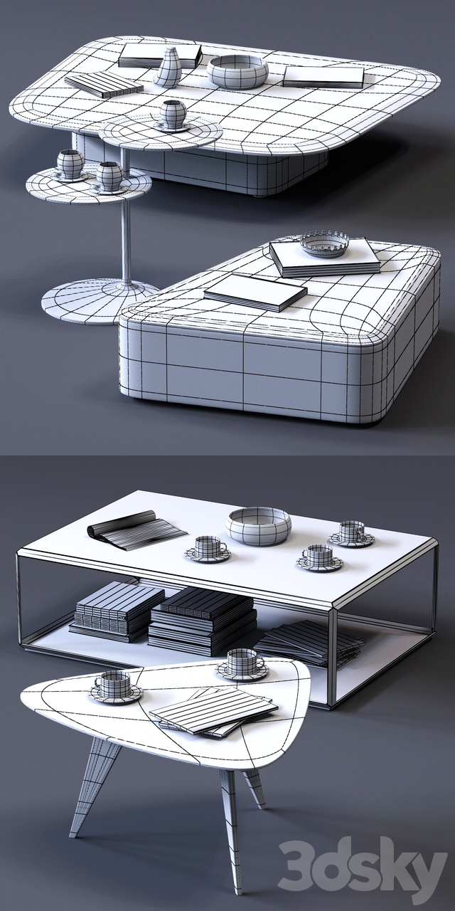 MolteniC Coffee Tables Set 01