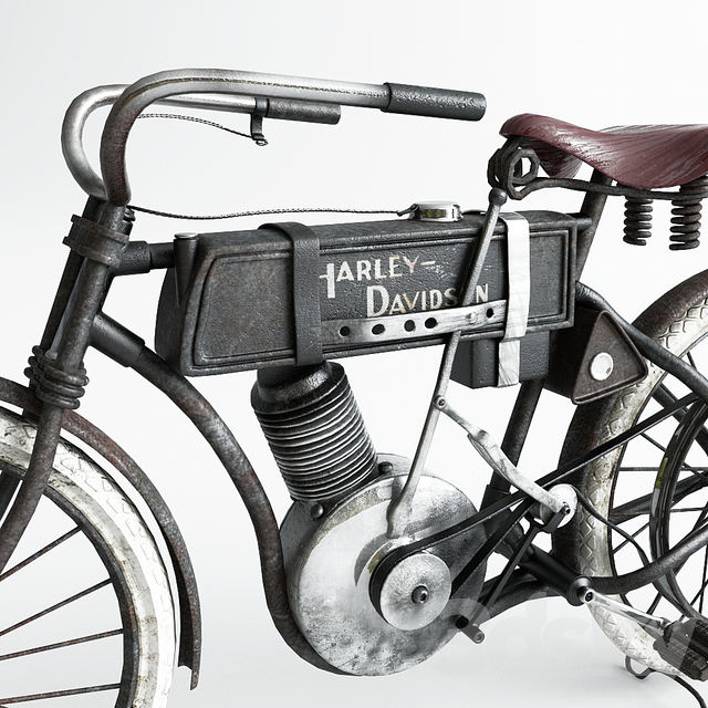 Motorbike Harley-Davidson In 1906