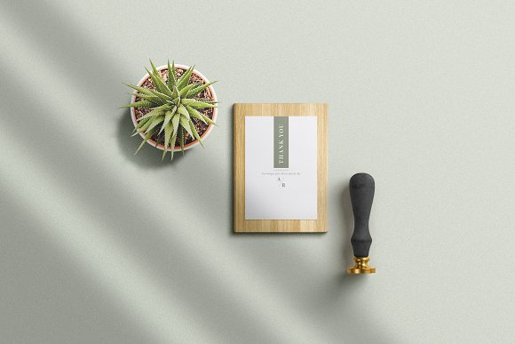 Minimal Green Wedding Suite