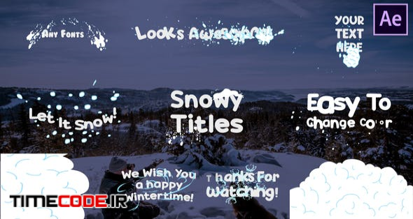 Snow Titles | After Effects