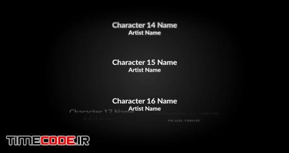 End Credits Film Titles