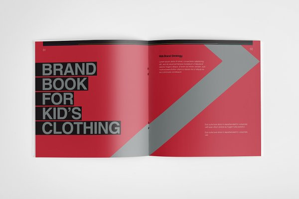 The Colorful – Brand Book Template | Creative Brochure Templates